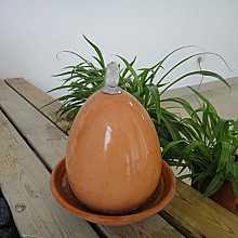 Terracotta Egg Table Top Indoor Water Feature