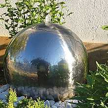 Aterno 45cm Stainless Steel Sphere Water Feature with LED Lights