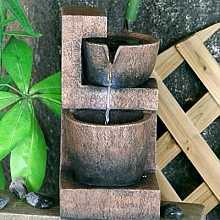 2 Copper Bowls Indoor Water Feature