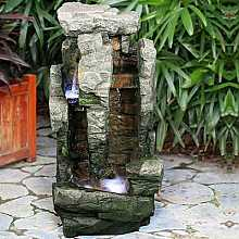 2 Fall Rock with Brick Water Feature