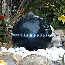 Dubai Terrazzo Sphere Water Feature with LED Light