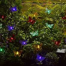 Coloured Butterfly Light String by Smart Solar