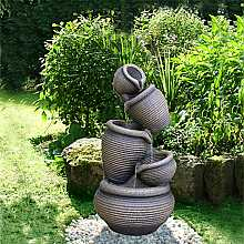 5 Tier Ribbed Pots Water Feature