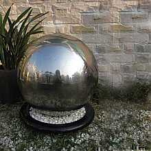 Ankara Stainless Steel Sphere Water Feature Fountain