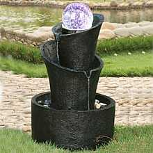 2 Tier Twist Crystal Ball Water Feature
