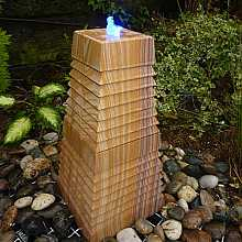 Cascading Rainbow Sandstone Tower Water Feature