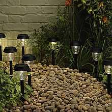 Black Pagoda Light, 10 pack by Smart Solar