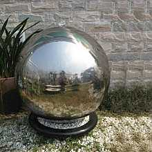 Berlin Stainless Steel Sphere Water Feature Fountain