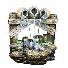 Kelkay Trickling Trio Water Feature with LED Lights