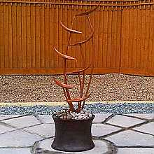 Solar Powered Autumn Copper Cascade Water Feature With LED Light