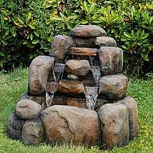 5 Fall Boulders Water Feature