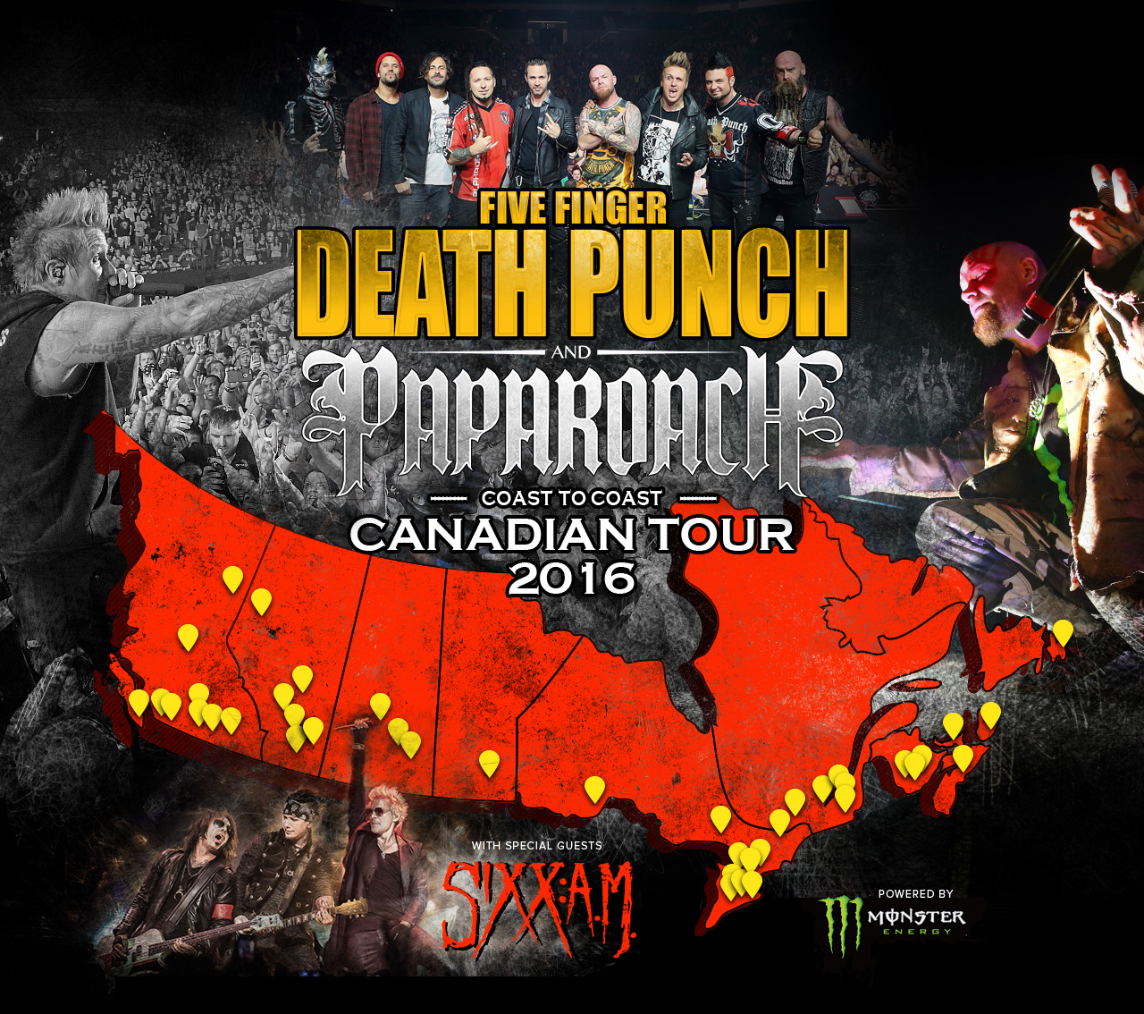 Vote To See Five Finger Death Punch And Papa Roach In Your City
