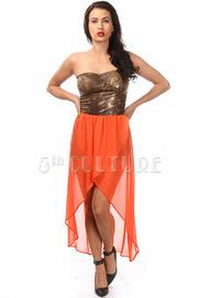 Snake Print High-Low Dress