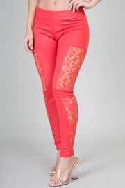 Side Lace Insert Leggings