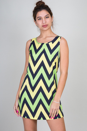 Sleeveless Chevron Dress