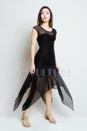 Layered Chiffon Hem Maxi Dress