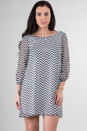 Zig Zag Bow Back Loose Fit Dress