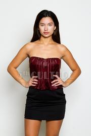 Strapless Stretch Waist Mini Dress