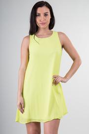 Lace Trim Back Double Layer Dress