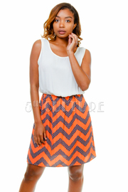 Stretch Waist Pocket Front Dress
