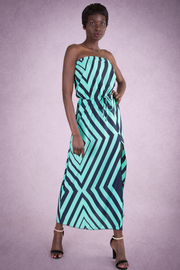 Diamond Stretch Waist Maxi Dress