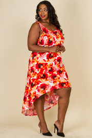 Plus Size Floral High Lo Dress