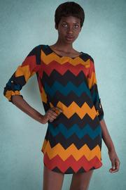 Zig Zag Colorblock Shift Dress
