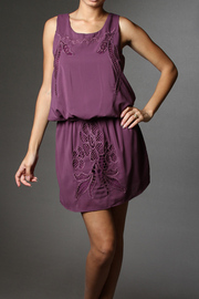 Eyelet Drop Waist Dress