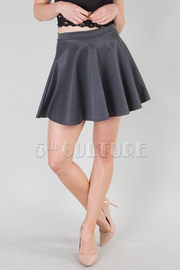 Solid Basic Skater Skirt