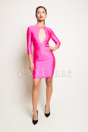 Back Mesh Insert Bodycon Dress