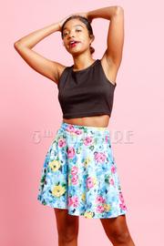 Floral Print Loose Fit Skirt