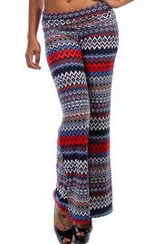 Aztec Print Flare Pants