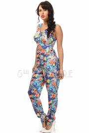 Cut Out Water Color Jumpsuit