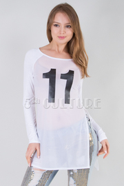 #11 Long Sleeve Mesh Player Top