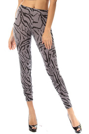 Zebra Knit Leggings
