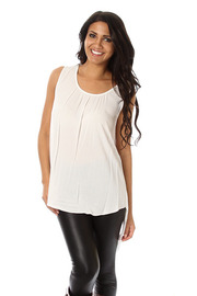 Solid Draped Back Top