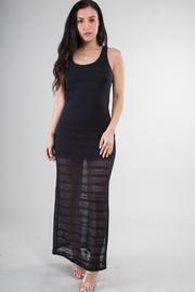 Lace Crochet Trim Side Slit Maxi Dress