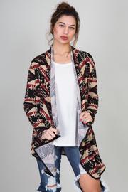 Ethnic Knit Print Cardigan