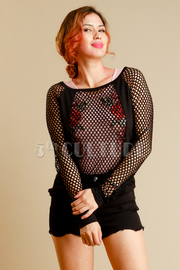 Fish Net Long Sleeve Top