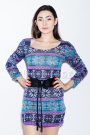 Fair Isle Belted Dress