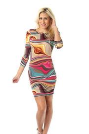 Colorful Swirl Bodycon Dress