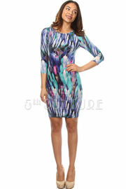Geometric Multi LS Dress