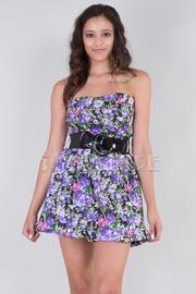 Floral Strapless Bubble Dress