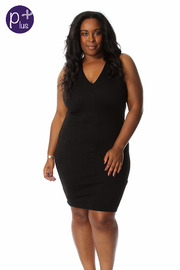 Plus Size Crossback Bodycon Dress