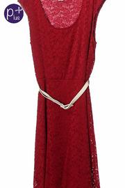 Plus Size Laced Flare Dress w/ Belt