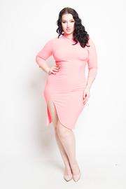 Plus Size Asymmetrical Bodycon Dress