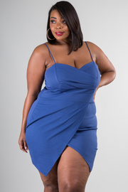Plus Size Solid Tulip Mini Dress