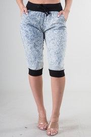 Capri Acid Wash Jogger Pants