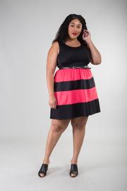 Color Block A-line Mini Dress