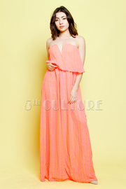 Sweethearted Strapless Ethnic Maxi Dress